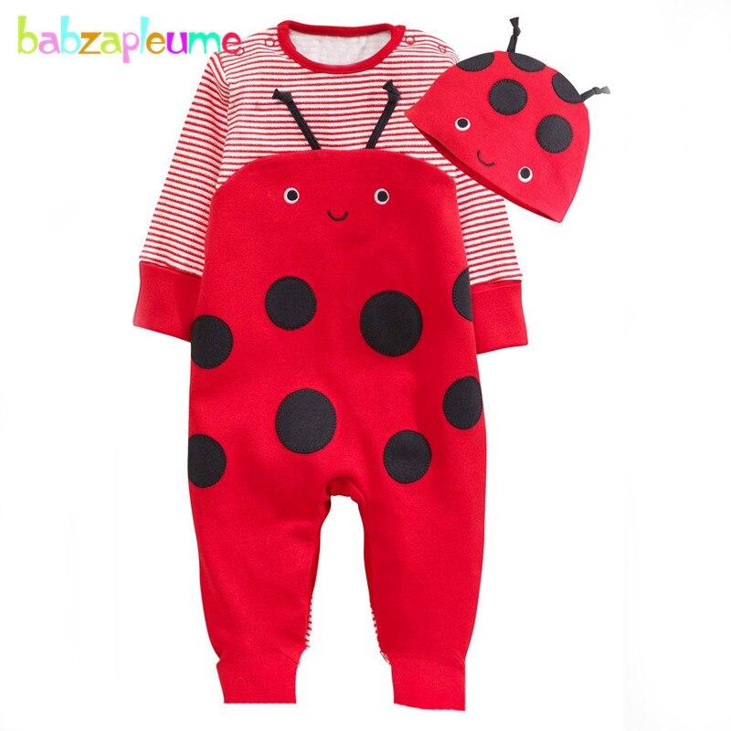 2 шт./0-18months/Демисезонный новорожденных Комбинезоны для малышек для Одежда для маленьких мальчиков и девочек мультфильм милый комбинезон + Ш...
