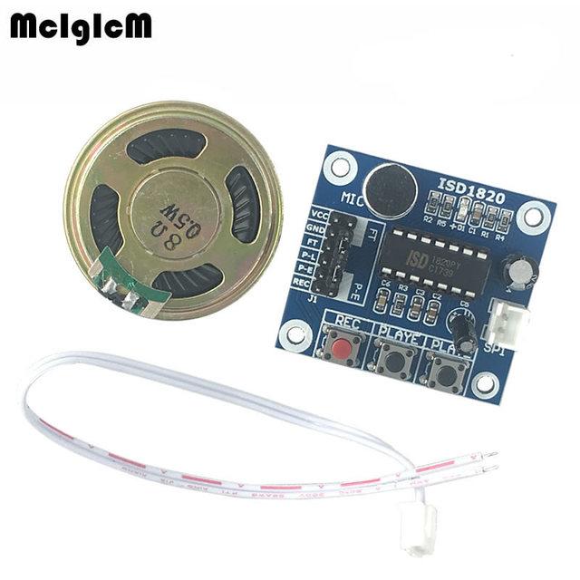 MCIGICM 1set ISD1820 recording module voice module the voice board telediphone module with Microphones + Loudspeaker