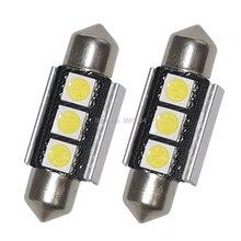 2PCS 36MM 1.50 Canbus Error Free Dome Festoon 3-5050-SMD LED Light Bulb Reading White Side License plate Lamp