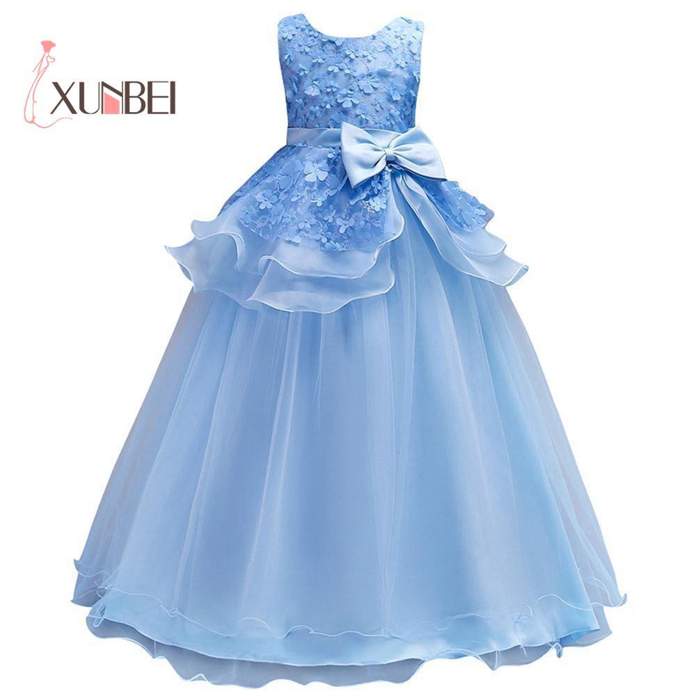 petites filles Princess Mint   Flower     Girl     Dresses   2017 Ball Gown Organza   Girls   Pageant   Dresses   First Communion   Dresses