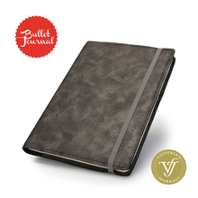 Dotted Bullet Notebook FOCUS Journal Bujo Flexy Puntos Leatherette Cover with Elastic Undated Diary Notepad Dot Grid A5