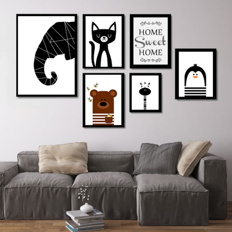 Buy Nordic Cute Animals Canvas Art Canvas Paintings Posters