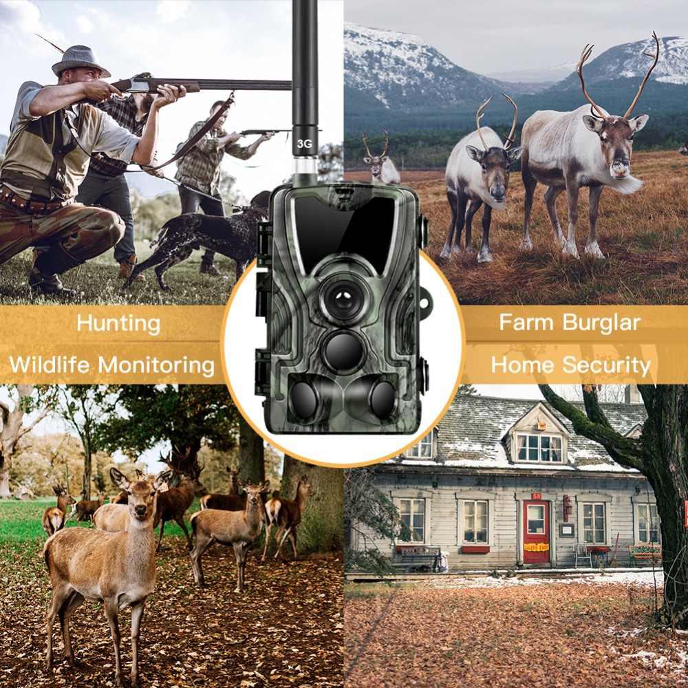 HC801G 3G MMS/SMS/Email Trail Kamera 16MP 1080P Malam Visi Berburu Kamera Foto Perangkap Nirkabel liar Kamera Surveilans Kamera
