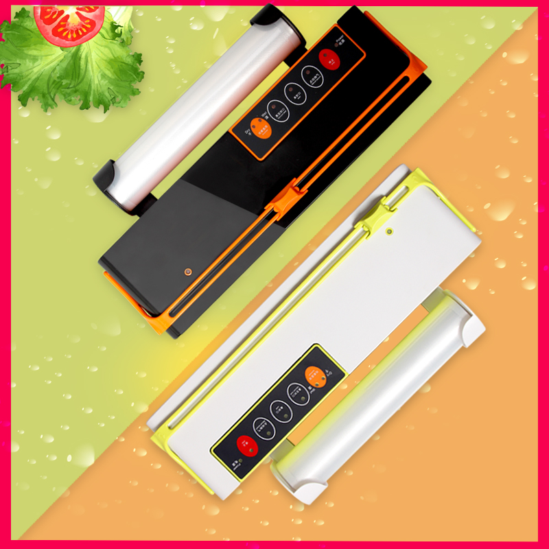 Image 2 - WOMSI Vacuum Packing Machine Mini Automatic Food Vacuum Sealer Own Cutting Knife Bag Slot Vacuum Packer Including 10Pcs Bags-in Vacuum Food Sealers from Home Appliances