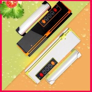 Image 2 - WOMSI ואקום אריזה מכונה מיני אוטומטי מזון אוטם ואקום עצמו חיתוך סכין תיק חריץ ואקום פקר כולל 10Pcs שקיות