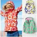 Бесплатная доставка - дети / девушки ветрозащитный куртка, дети большой цветочный куртка, девушка ветровка, девушки весна куртка, на открытом воздухе ( MOQ : 1 шт. )