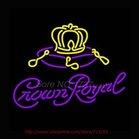 Crown Royal Neon Sign Store Display Handcrafted Neon Bulbs Real Glass Tube Neon Bar Signs Professional