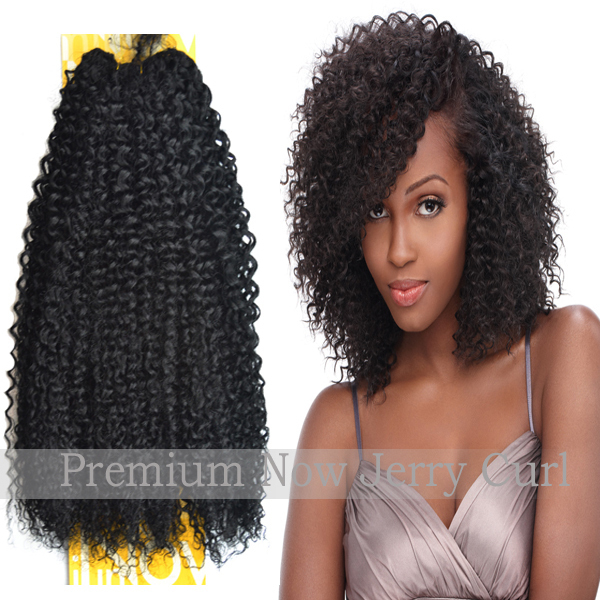 100 Sensationnel Premium Now Jerry Curl Human Hair Extensions Remy