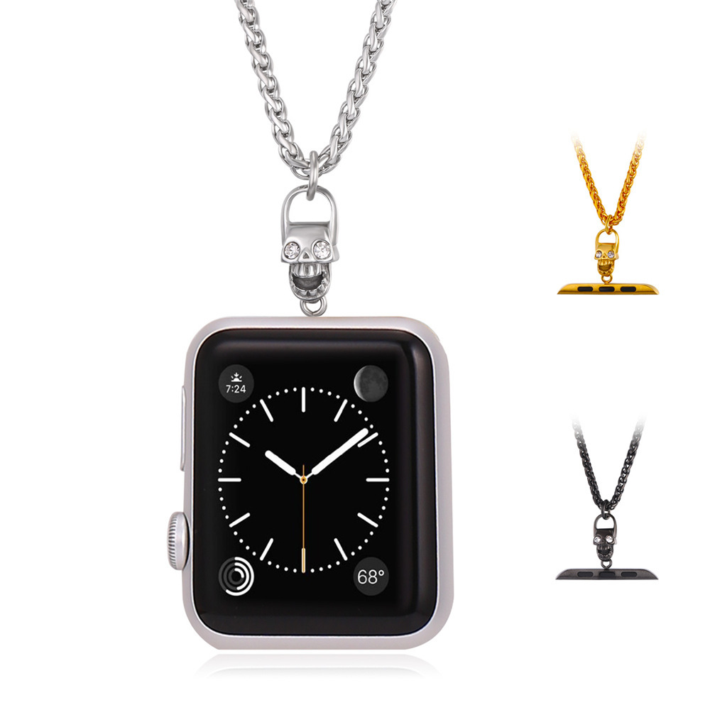 Cool Skull Necklace for Apple Watch 38MM/42MM Gold