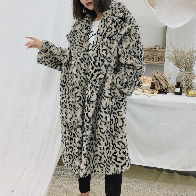 Teddy Peluche Coat Épaissir Faux Coat Brown D'agneau D'hiver En Vestes De Laine Femmes Manteau Manteaux Chaud 2018 pink Fourrure Surdimensionné red Coat Veste Femelle Coat leopard Long Stt0Hwq