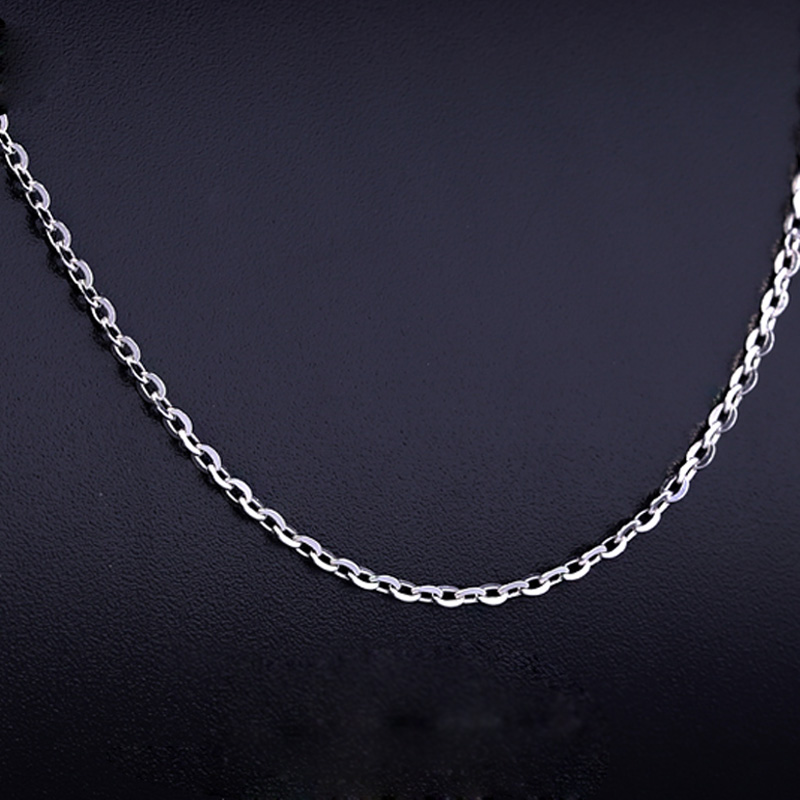 Stamped 925 Sterling Silver Aberdeen box Chain Necklaces Women Jewelry Girls Wholesale