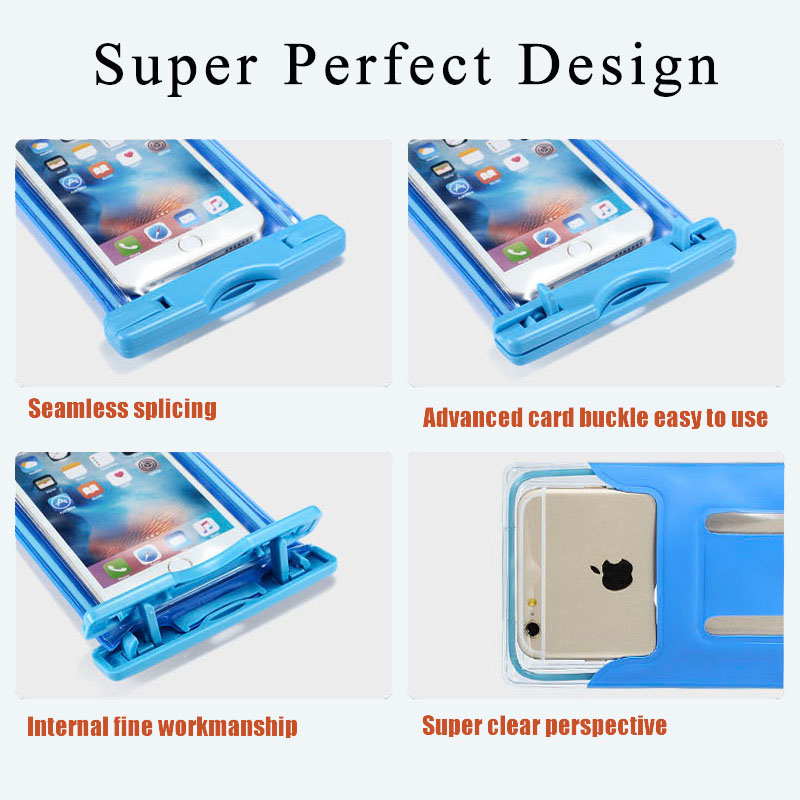 Xaomi xiomi mi a1 swim waterproof phone pouch cover fluorescent for Xiaomi mi8 SE Mobile waterproof case underwater camera Bag