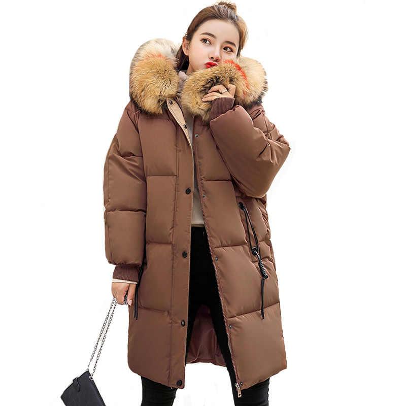 7c8581f9ad6 Однобортный пуговицы женские зимние куртки с капюшоном теплый толстый женский  пальто для будущих мам парка oversize