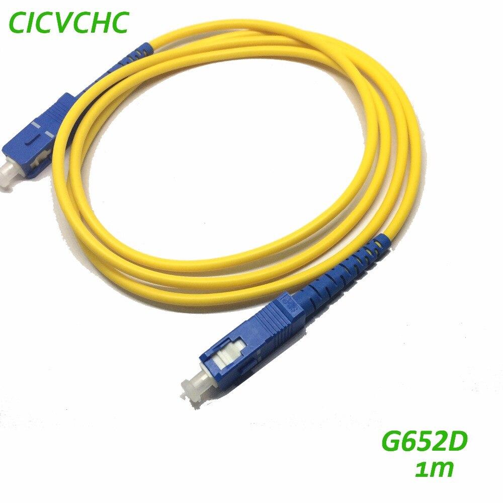 10pcs SC/UPC-SC/UPC-3.0mm-PVC-SM-Yellow-1m Optical Fiber Patchcord/Jumper