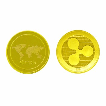 Gold/Silver-Plated Ripple Coin Commemorative Round XRP Ripple Crypto Currency Plated Coin Collectible BitCoin Art Collection
