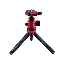 MANBILY MT-01+B-10 Universal Aluminum Colorful Light Weight Table Tripod With DSLR Camera