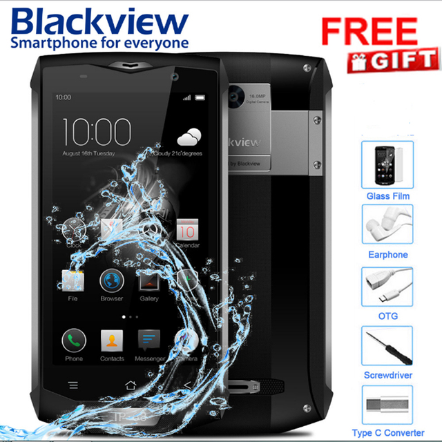 Blackview BV8000 Pro Outdoor Waterproof 3G Android 7.0 Phone 5.0Inch 1920*1080P 6GB+64GB 4180mAh Shock-resistant GPS Smartphone