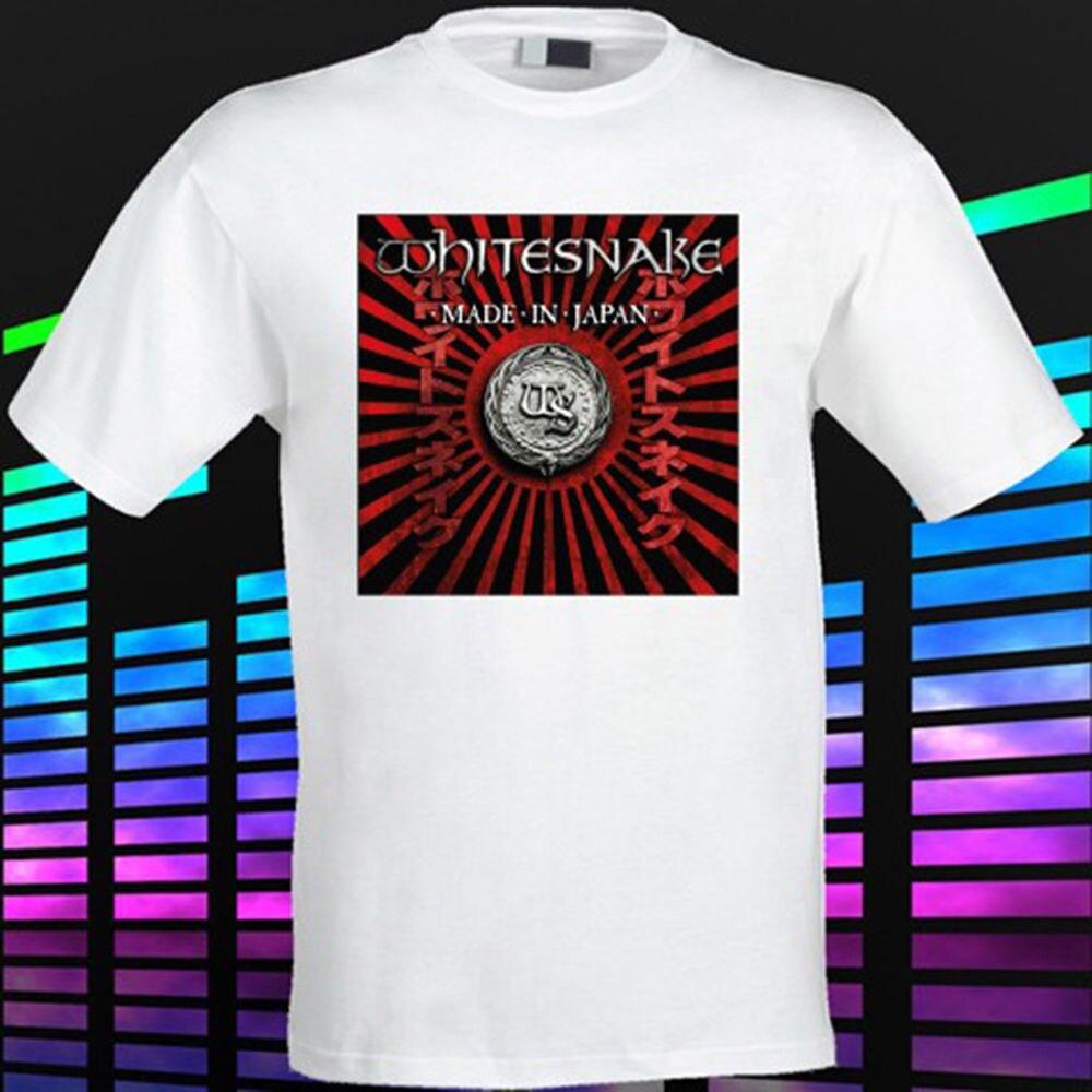 T shirt whitesnake - Gildan New Whitesnake Made In Japan Rock Band Legend Men S White T Shirt Size S