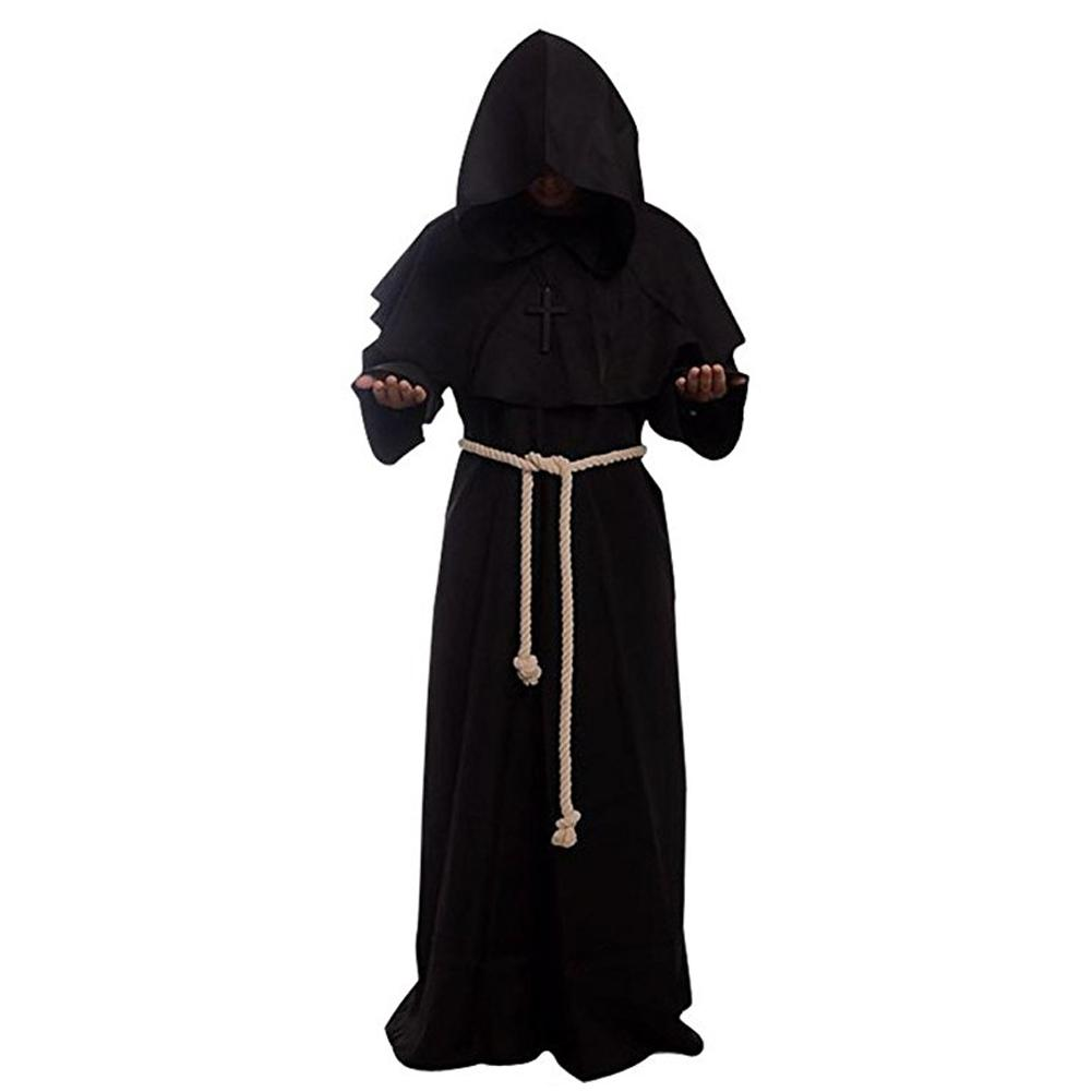 Halloween Medieval Monk Robe Priest Robe Witch Costume For Halloween Cosplay Costumes