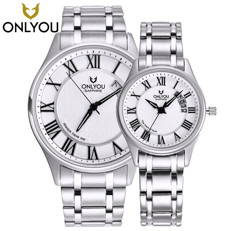 ONLYOU Unique Design Creative Dress Stylish Quartz Women Watch Business Men Watches Gift Wrist Watch Vintage Timepieces1/ Pair burei new creative design watch mineral stylish quartz women watch casual fashion ladies gift wrist watch vintage timepieces