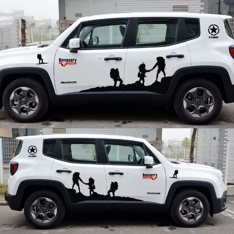 Прохладный один кусок шаблон дизайна автомобиля сторона юбка декор наклейки и отличительные знаки,стайлинга автомобилей открытие умирают ярлыки отрезка для ВИЛЛИСА/Хонда CRV