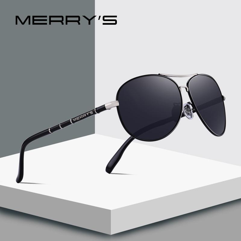 ff676d62ea7 MERRY S DESIGN Men Classic Pilot Sunglasses HD Polarized Sunglasses ...