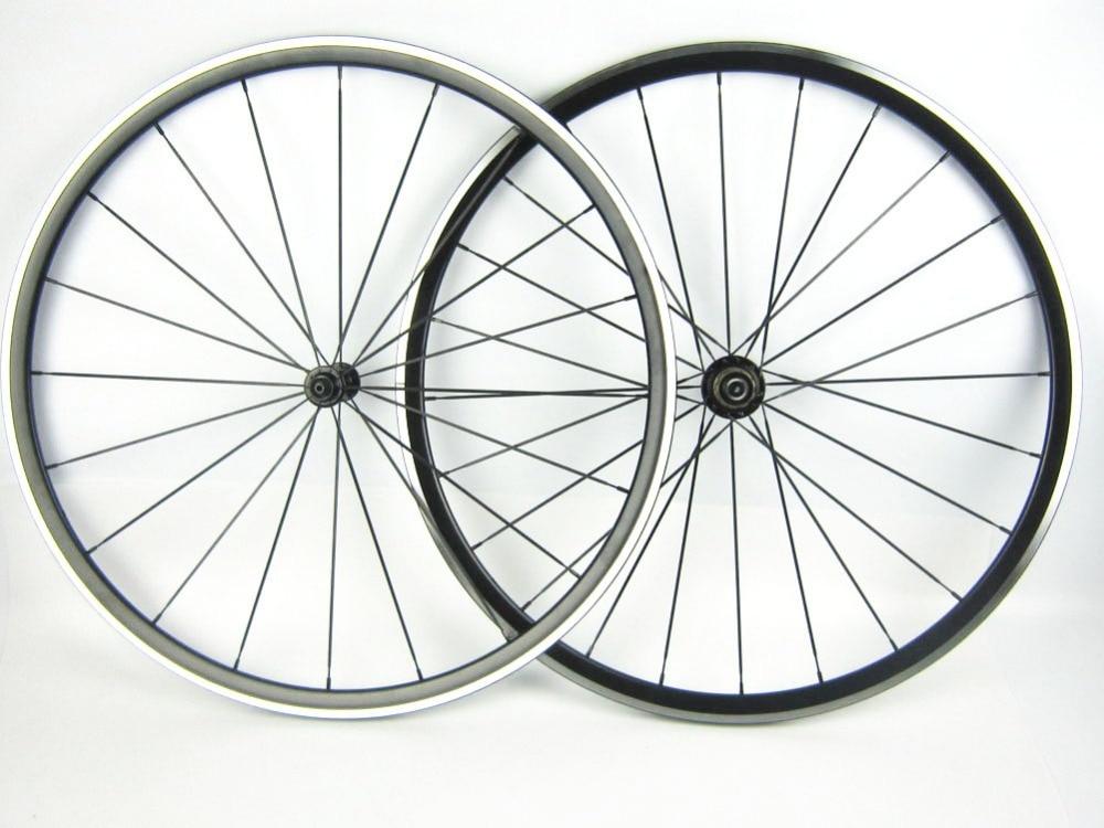 1270g della bici della lega di strada ruota ciclo del 700C XR 200 kinlin cerchi in lega cuscinetto del mozzo Bitex 6 nottolini 1420 o 424 cn razze in alluminio ruote