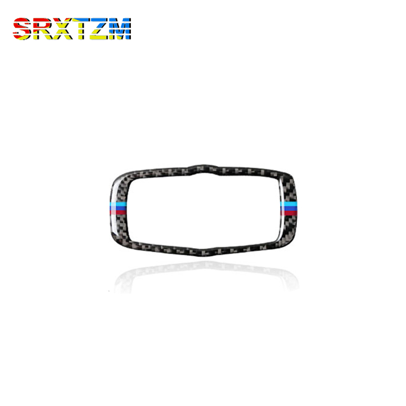 SRXTZM Carbon Fiber Headlight Switch Frame Trim For BMW