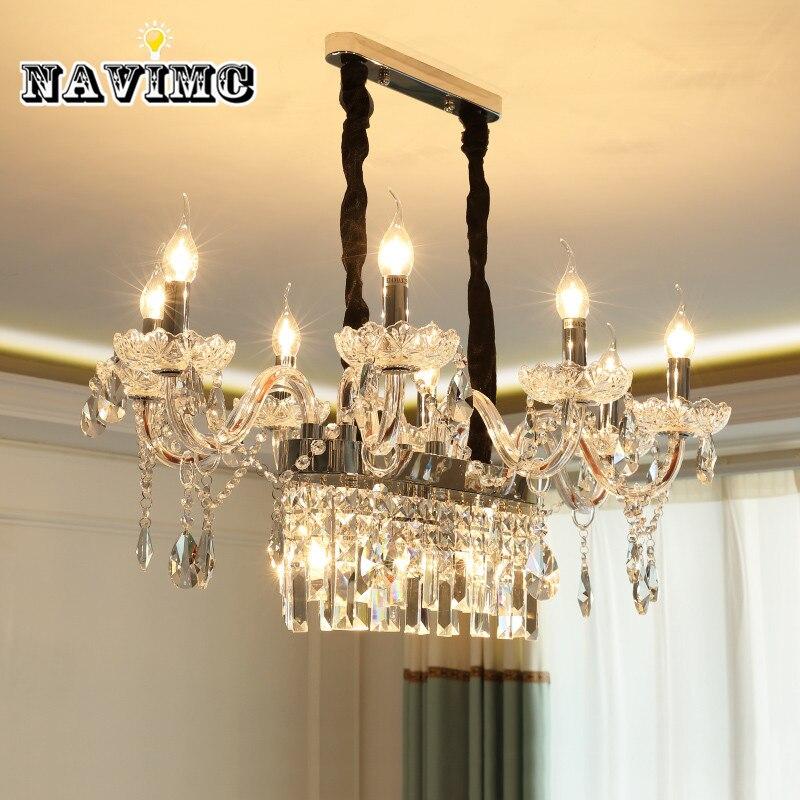 Europeo Lampadari Di Cristallo di Illuminazione candela lampade per Sala da pranzo Camera Da Letto Soggiorno Lampada a Sospensione Da Sposa Cattedrale