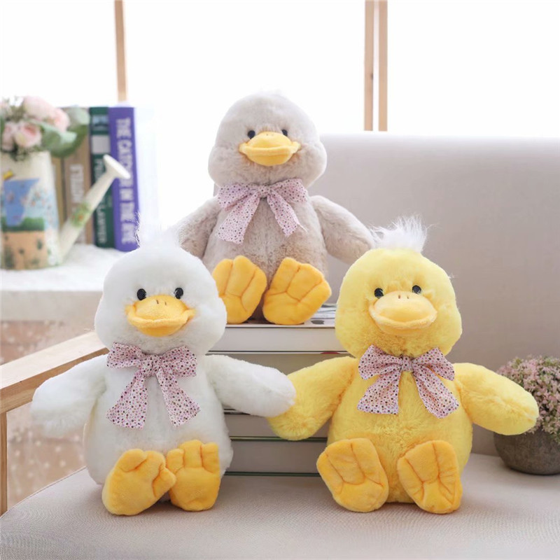 30cm Cute Cartoon Small Duck Plush Toys Stuffed Animal Doll Toy Creative Children Birthday Gift