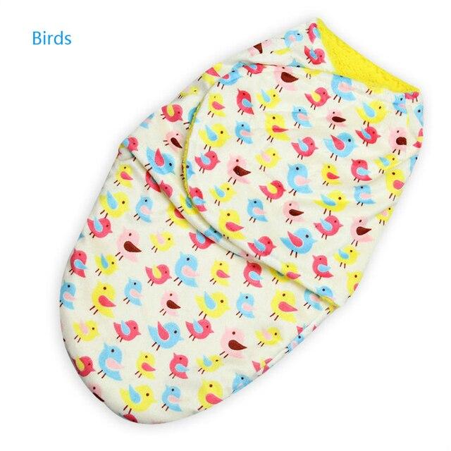 Младенческая Baby Пеленальный Wrap Мягкий Конверт для Новорожденных Короткие Нити Owl Спальный Мешок Swaddleme