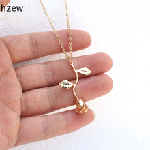 hzew Delicate Rose Necklace & Pendants Flower Best Friends  Vintage Charm Cute Women Jewelry necklace