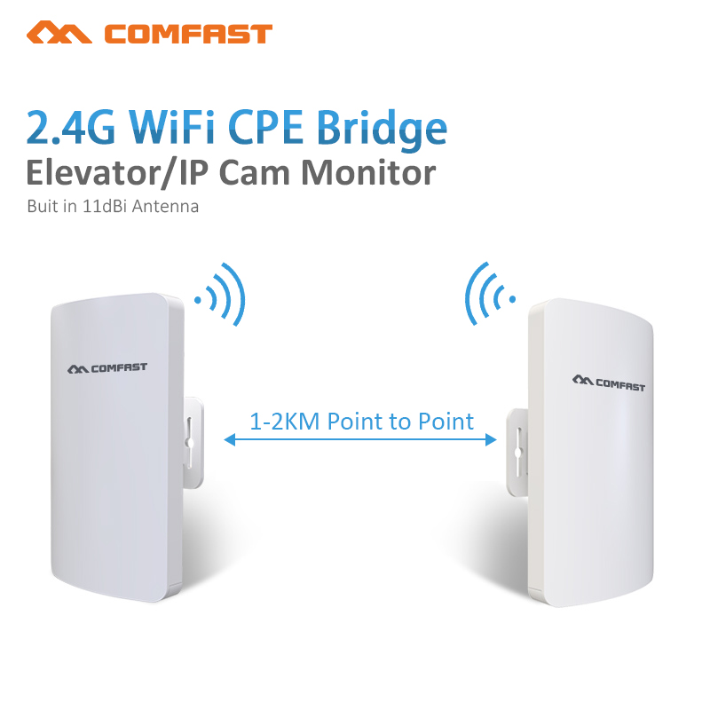 2pcs 2.4GHz 300Mbps 1-3KM Outdoor CPE Wireless WiFi Repeater Router Extender AP Access Point WiFi Bridge with POE Adapter Antenn outdoor cpe 5 8g wifi router 200mw 1 3km 300mbps wireless access point cpe wifi router with 48v poe adapter wifi bridge cf e312a