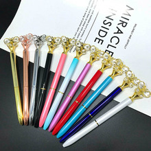 1 pcs luxury gel pen ballpoint pen kawaii pen bullet tip Metal ball pen office &school supplies Stationery pen for Writing Gift недорого