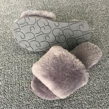 Girl Slippers for Children Winter Boy Rabbit Fur Home Slippers Kids Family Mother Daughter Shoes Indoor Children's Slippers