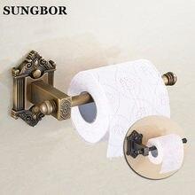 Antique Copper Rollenhalter Retro Europäische Kreative Handtuchhalter  Toilettenpapierhalter Bad Anhänger Papierhalter HY 93808F(China