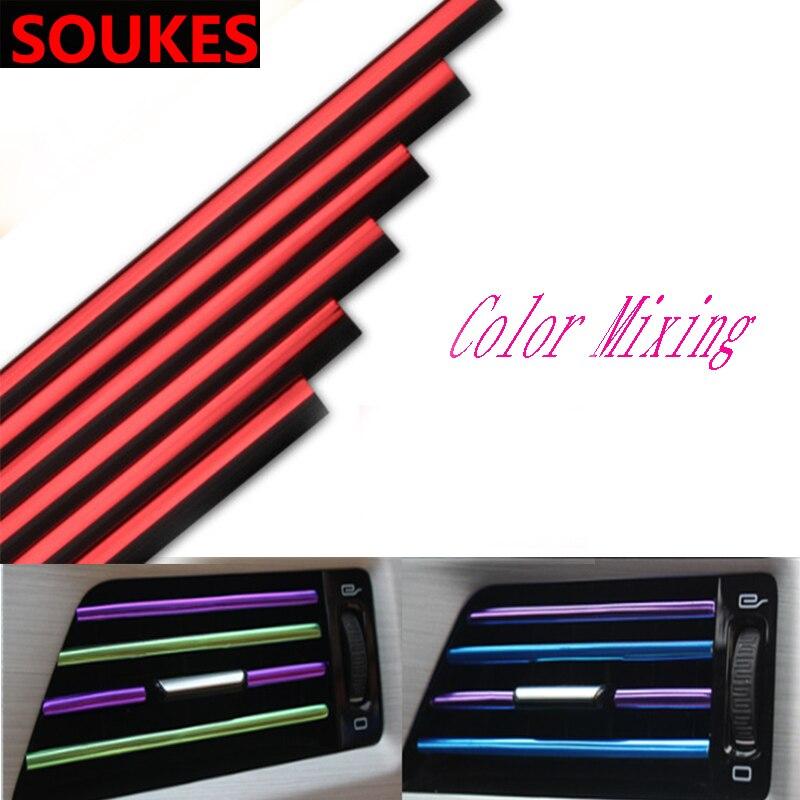 2pcs U Car Air Conditioner Chrome Decoration Strip For Peugeot 307 206 308 407 207 2008 3008 508 406 208 Mazda 3 6 Cx-5 Cx5 Cx-7 Quality And Quantity Assured