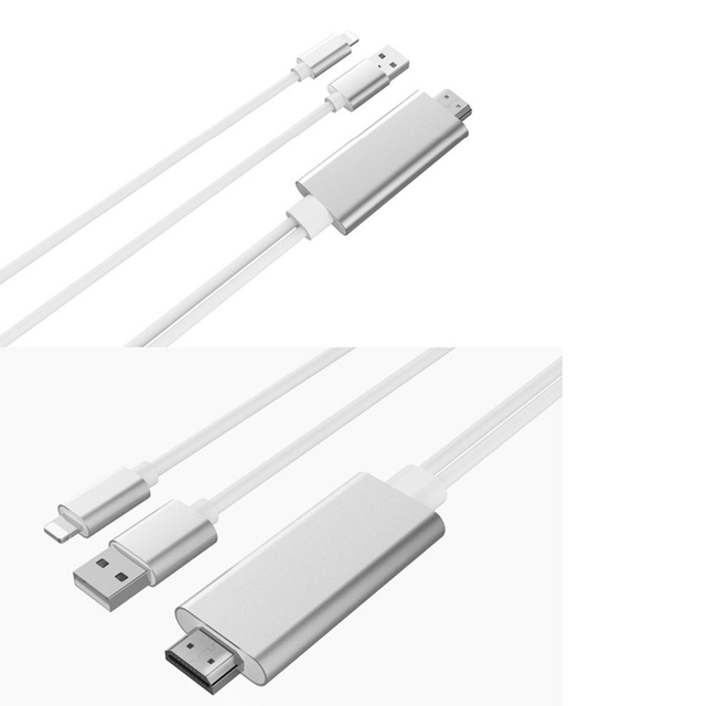 Adapter for Apple to HDMI HD Cable 1080P HD for iPad on for iPhone 5 5S 6 6s 7 Plus Phone Connected to TV Support IOS11 system