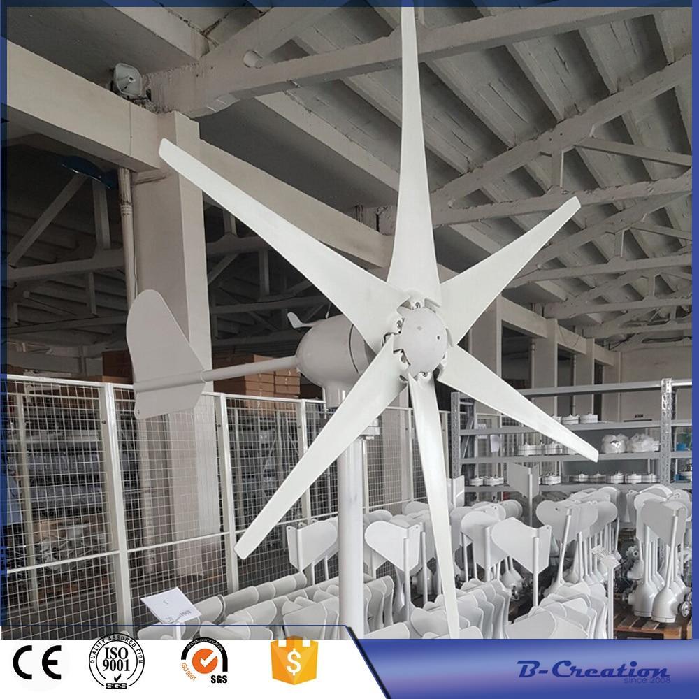 500w wind turbine Max power 600w 6 blades small wind mill low start up wind generator + 800w wind solar hybrid controller max 900w 2 5m s start up wind speed 2 2m wheel diameter 3 blades 800w 48v wind turbine generator