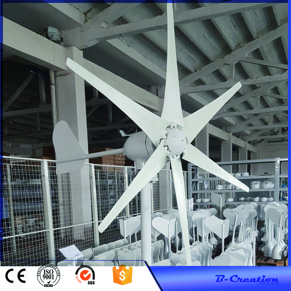 500w wind turbine Max power 600w 6 blades small wind mill low start up wind generator + 800w wind solar hybrid controller цена