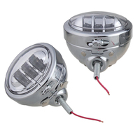 4 1/2 4.5 inch LED Auxiliary Spot Fog Passing Lamp with Housing Ring Mount Bracket for Harley Touring Electra Glide Daymaker