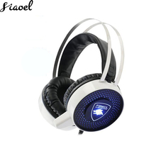 FRIWOL Stereo Wired gaming Headphones Game Headset Over ear With Mic Voice Wired Computer Headset Game Lighting Have Bass white gaming headset for playstation 4 ps4 tablet wired computer 3 5mm over ear hifi stereo headphones with mic led light