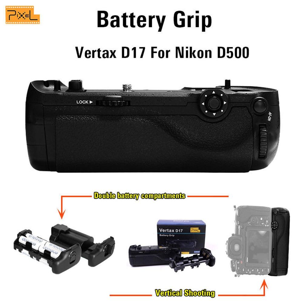 Pixel D17 Batterifack för Nikon D500 Vertikal fotografering Dubbel - Kamera och foto