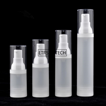 100pcs 15ml 20ml 30ml 50ml airless bottle frosted vacuum pump bottle lotion spray bottle with PP material F2657