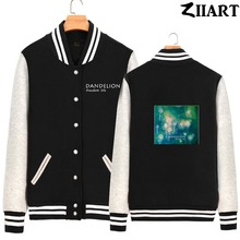 Dandelion Seeds Freedom life Taraxacum Green plant Boys Man fleece Baseball Jackets couple clothes ZIIART цена и фото