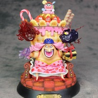 Anime One Piece Action Figure Charlotte Linlin Throne BIG MOM Dolls Decoration Collection Figurine Children Christmas Toys Gifts