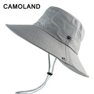 1c2edb04bac CAMOLAND Summer Bucket Hat Women Men s Outdoors Fishing Cap