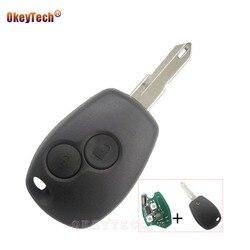 OkeyTech zdalnie sterowanym samochodowym kluczem pokrywy skrzynka dla renault duster Vivaro Clio Kangoo Transponder 433MHz PCF7946 Chip 2 przyciski