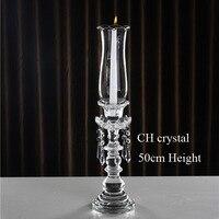 Libera la nave cristal titular de la vela, sostenedor de vela cristal con globo huracán, para decoración de la boda centros de mesa, decoración del hogar