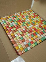 11pcs Size 30 30cm Brand New Pastoral Style Colorful Crystal Glass Mosaic Tiles For Wallfor Bathroom